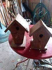 Wooden Shelf, Birdhouses, Frame and More A