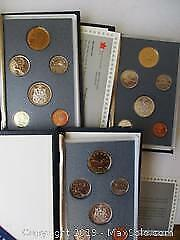 Royal Canadian Mint 1989, 1990 & 1991 Specimen Sets Of Canadian Currency Coins.