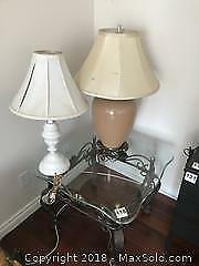 Table and Lamps B