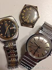 3 working mechanical wind up and automatic watches, Swiss-DOXA... QRIENT and TIMEX.