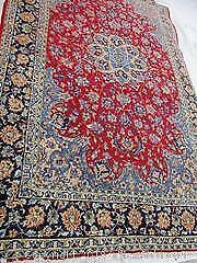 Very Large Persian Rug. HEAVY & Thick Rug. Vintage Room Size Persian Kashan Rug. Hand Woven-All Wool Rug.