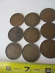 Antique King George, Canadian Large Cent Penny Collection.