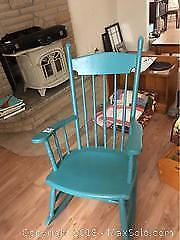 Vintage Wooden Rocking Chair A