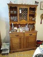 China Cabinet with Hutch C
