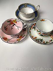 Antique teacups 6 pieces A