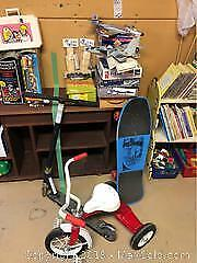 Plastic Models Tricycle and Scooter A