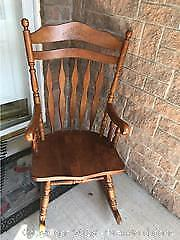Large Vintage Maple Rocking Chair