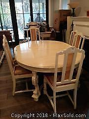 French Provincial Dining Table With 6 Chairs C