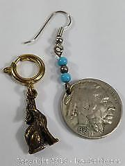 One American BuffaloIndian Nickle Earring From 1936