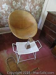 Retro Chair, Footstool And Lamp - B