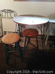 Bistro Table And Stools B