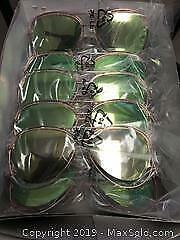 12 pairs individually packaged aviator style sunglasses
