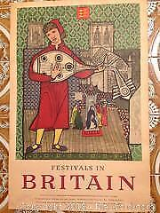 Festivals in Britain original rare vintage poster.