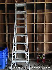 F. Aluminum Extension Ladder B