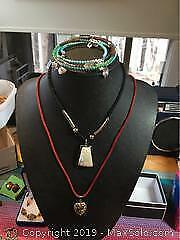 Costume Jewelry Includes Cloisonne Heart