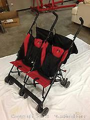 Collapsible double stroller in like new condition