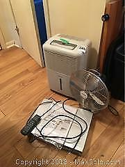 Dehumidifier, Fan And DVD Player