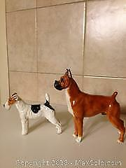 Royal Doulton dog figurines. Boxer dog