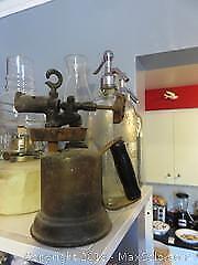Vintage Bottles & Blow Torch-A