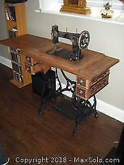 Sewing Machine And Treddle Case C