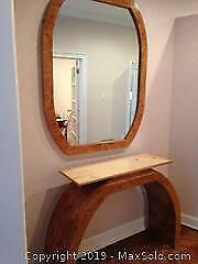 Mirror And Table Hall Console