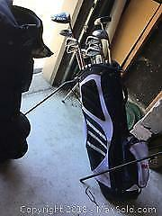 Youth Golf Clubs and Bag B
