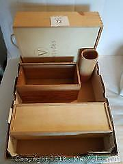 Wooden Wine Crates, Planter and Pencil/Utensil Holder.