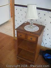 Night Stand With Lamp B