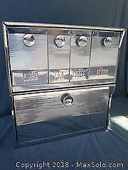 Vintage Chrome Pantry Storage