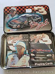 Dale Earnhardt Playing card Sets mint in Tin