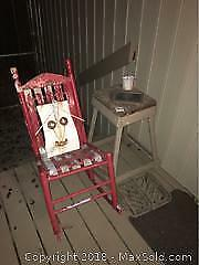 Rocking Chair Table And Art