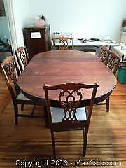 Antique Dining Table And Chairs C