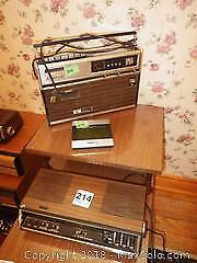 Vintage Radio Clock and Cassette Recorder A