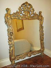 Antique French Rococo Gilt Mirror