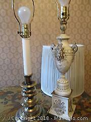 Two Vintage Table Lamps. Brass & French Provincial.