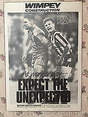 Vintage British Football Poster