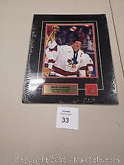 Mario Lemieux Matted Team Canada Gold Medal Photo with Lapel Pin. - A