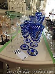 French Crystal Wine Glasses. A