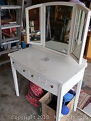 Mirrored Wooden Vanity with 2 Pullout Drawers
