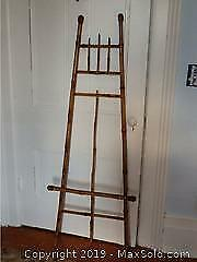 Victorian Chinoiserie Bamboo Easel Stand Large