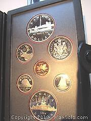 Royal Canadian Mint Toronto Skyline With Canoe, Double Silver Dollar Set. 1834 To 1984 Toronto.