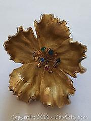 Vintage Brooch With Coloured rhinestones replacing the pistol