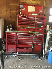 Tool Cabinet With Vice And Grinder