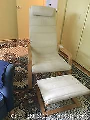 Chair with Foot Rest and Side Table B