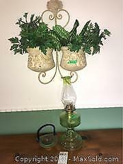 Oil Lamp, Wall Planter A