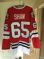Autographed Andrew Shaw Chicago Blackhawks Jersey with COA