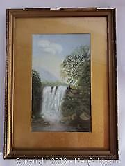 Old Pastel Framed Painting