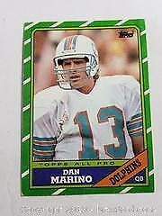 1986 Topps Dan Marino Football Card