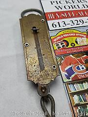 Old Brass Fishing Scale