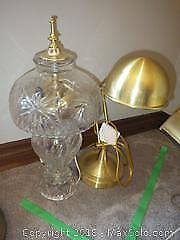 Crystal Table Lamp And Brass Lamp- B